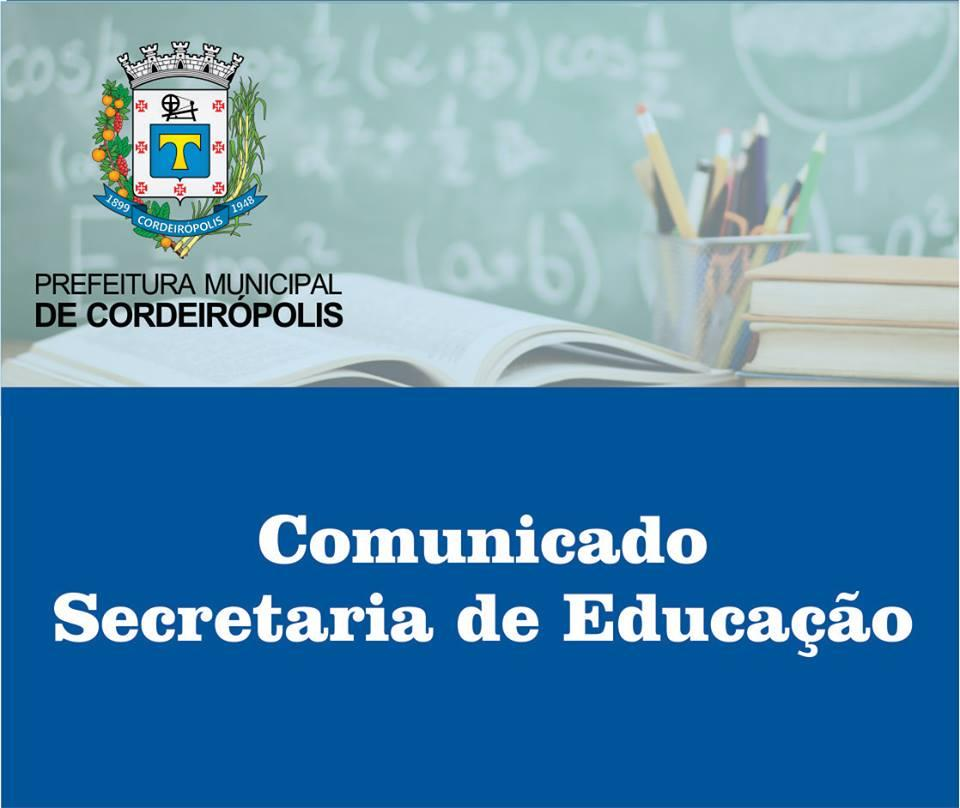 Secretaria de Educação de Cordeirópolis abre inscrições para o EJA