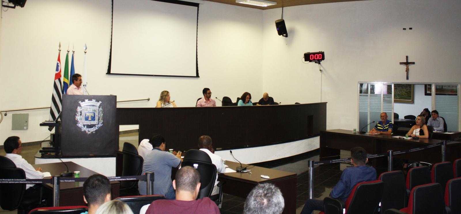 Vereadores de Cordeirópolis fazem indicações durante a 31ª Sessão Ordinária