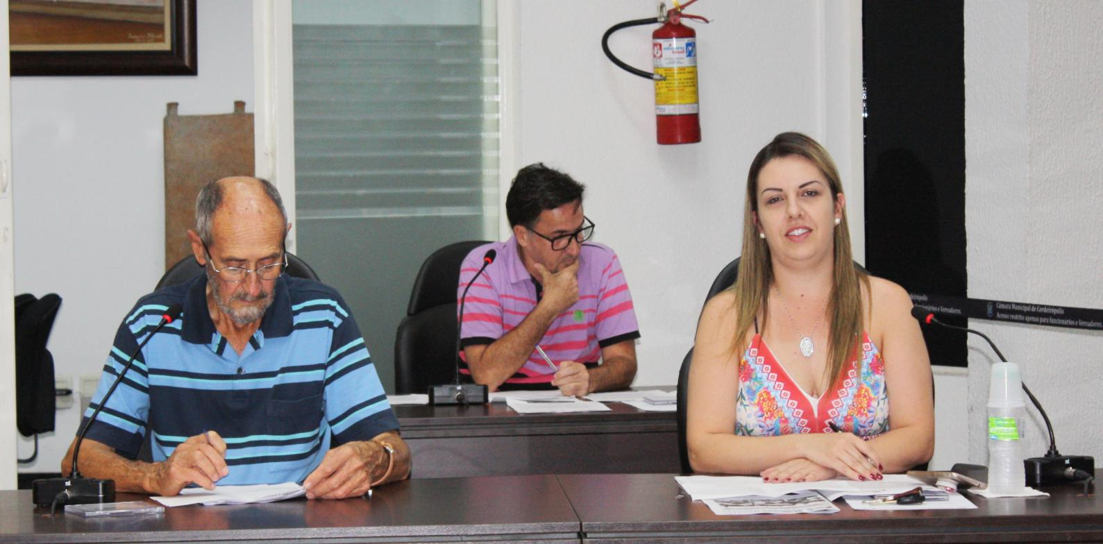 Vereadores de Cordeirópolis apresentam requerimentos e indicações durante 35ª Sessão