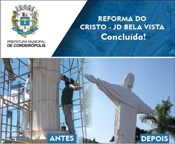 Reforma do Cristo Jardim Bela Vista em Cordeirópolis é concluída