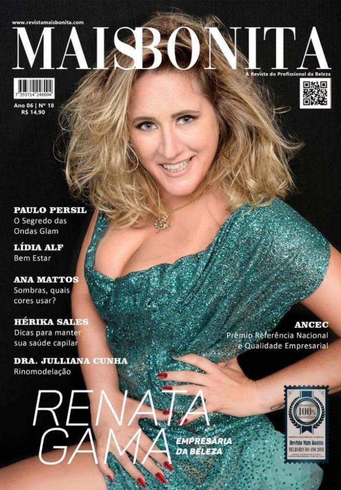 Renata estampa capa da edição 18 da revista Mais Bonita (Foto: Reprodução)