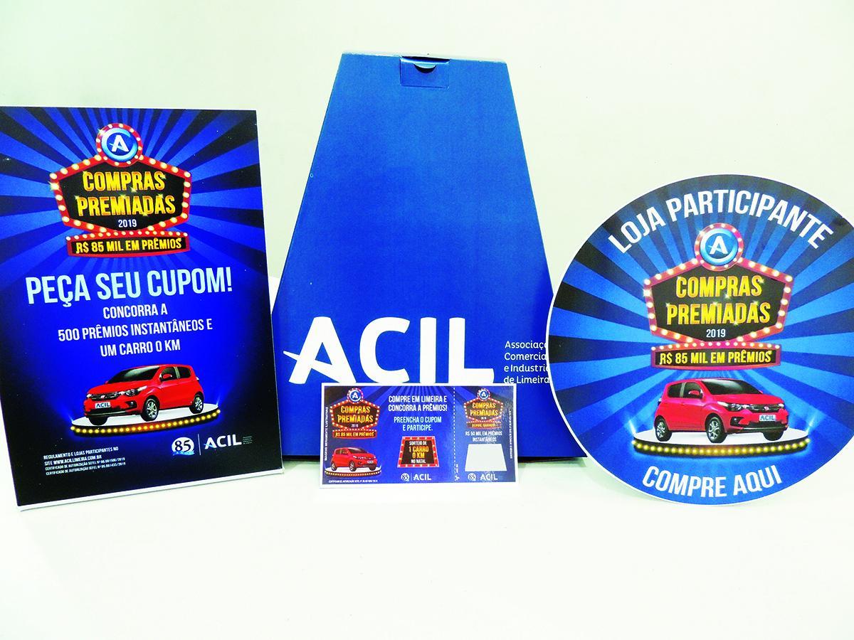 As lojas participantes da promoção da ACIL estão identificadas com placa e adesivo alusivo a Campanha Compras Premiadas