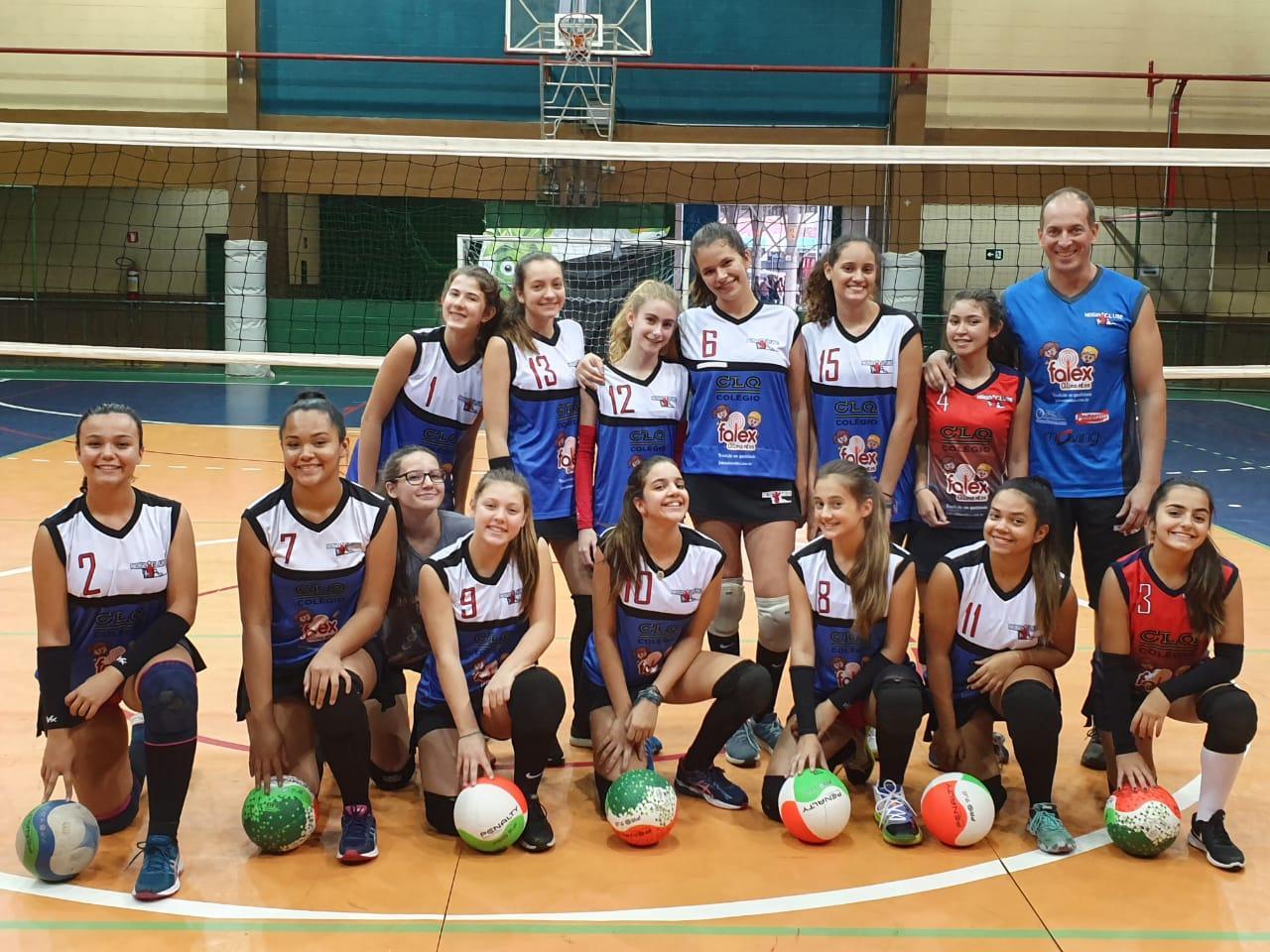 Equipe sub-15 feminina do Nosso Clube vence SBO pela Copa Regional de Voleibol