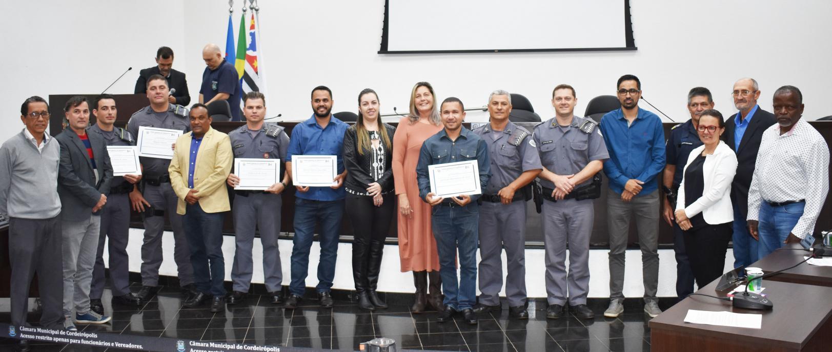 Vereadores aprovam Moção de congratulações à policiais de Cordeirópolis