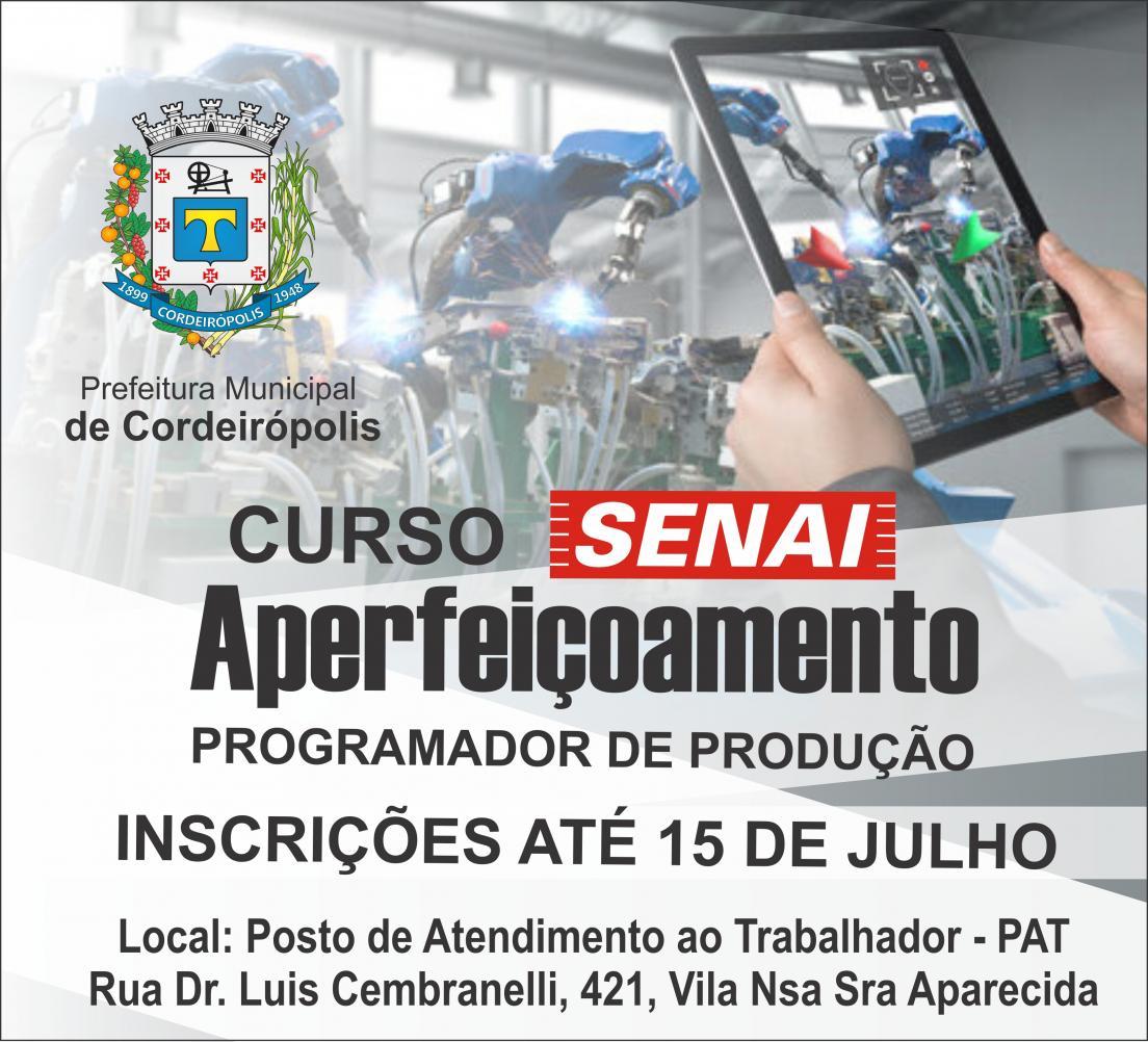 Prefeitura de Cordeirópolis abre novas vagas para curso do SENAI