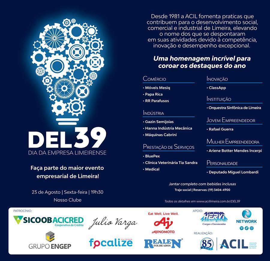 39º Dia da Empresa Limeirense acontece nesta sexta-feira