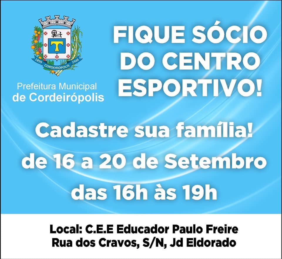 Fique sócio do Centro Esportivo Paulo Freire em Cordeirópolis