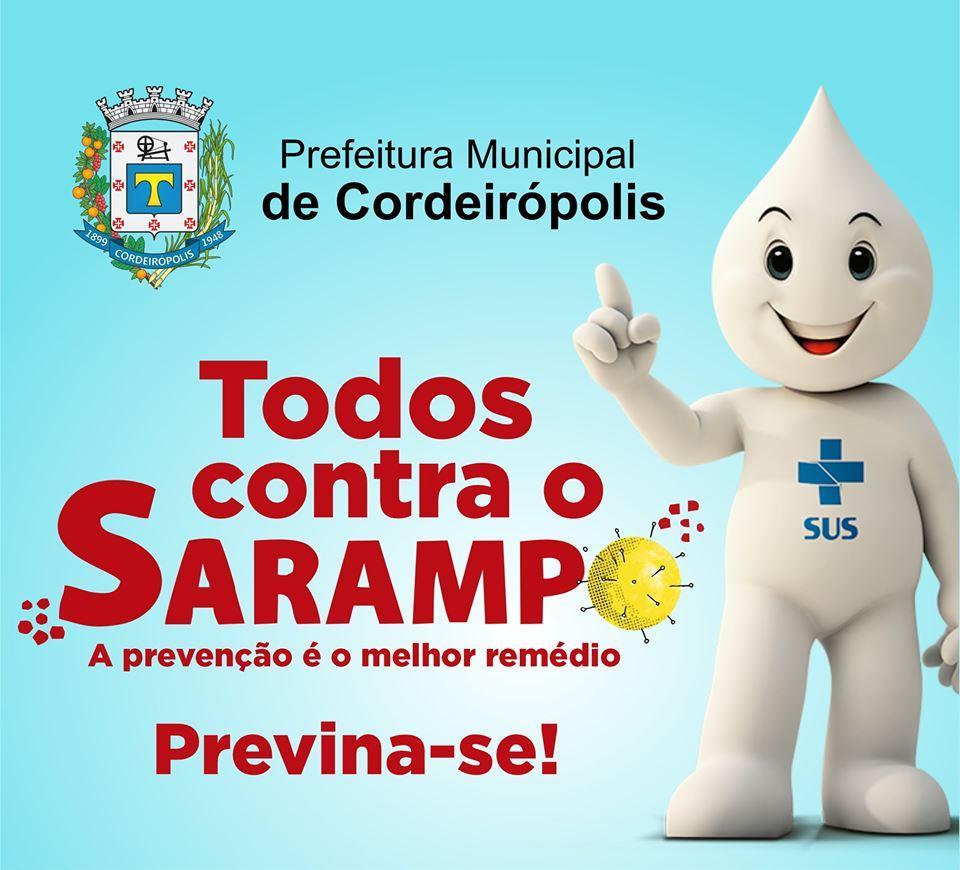 Campanha Seletiva de Vacinação contra o Sarampo já começou em Cordeirópolis