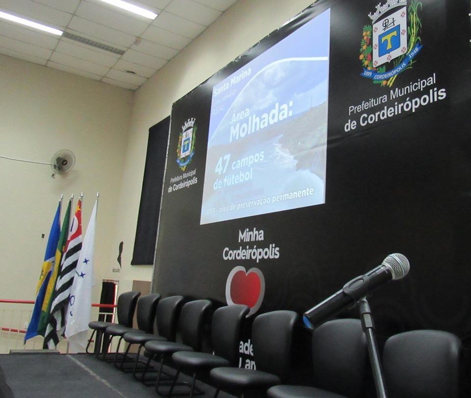 Represa Santa Marina sai do papel para entrar para a história de Cordeirópolis
