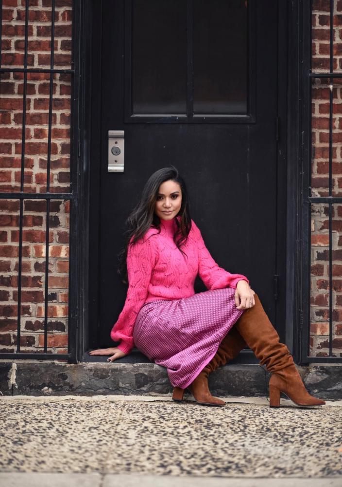 Stylist de NY Priscila Carreon prepara ensaio com tendências do outono para modelo Cleo Pillon