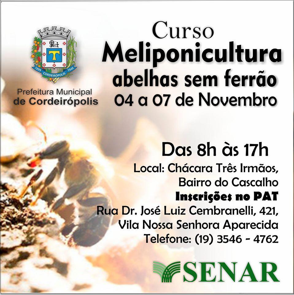 Mais um curso gratuito para a população de Cordeirópolis