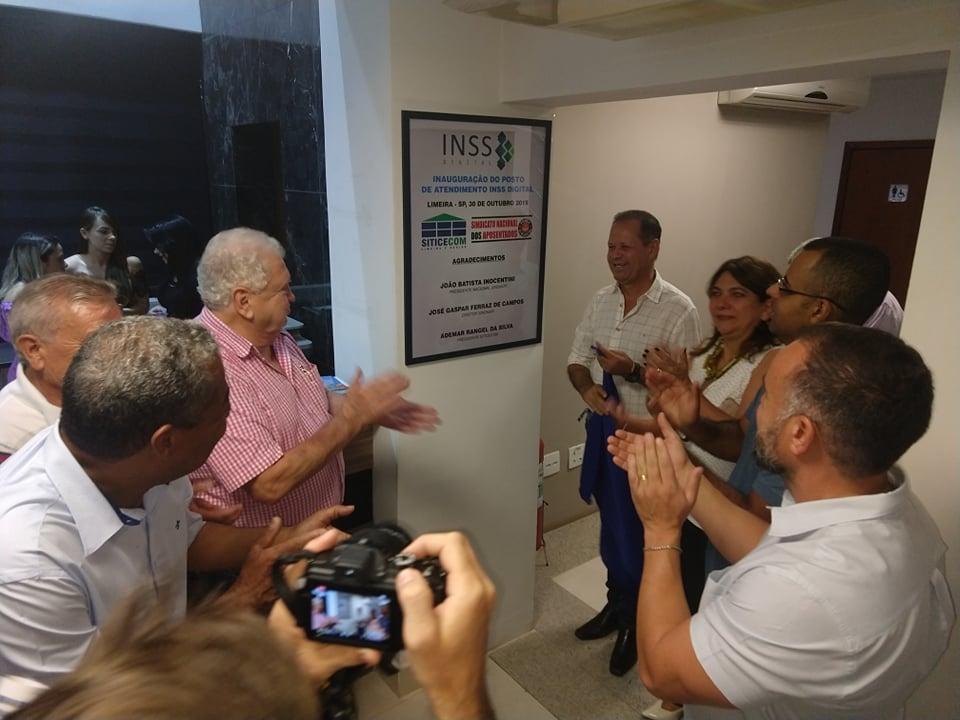 Siticecom inaugura posto do INSS Digital