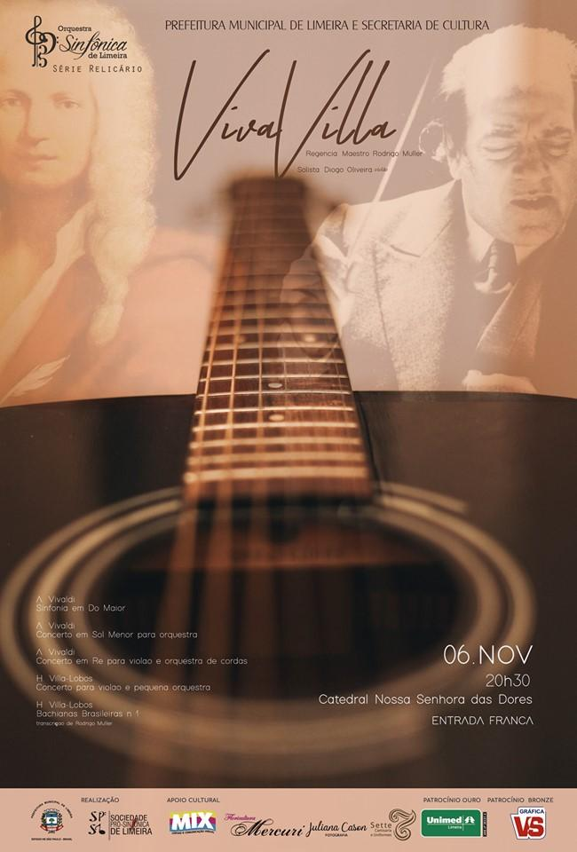 Orquestra apresenta VivaVilla nesta quarta-feira; a entrada é gratuita