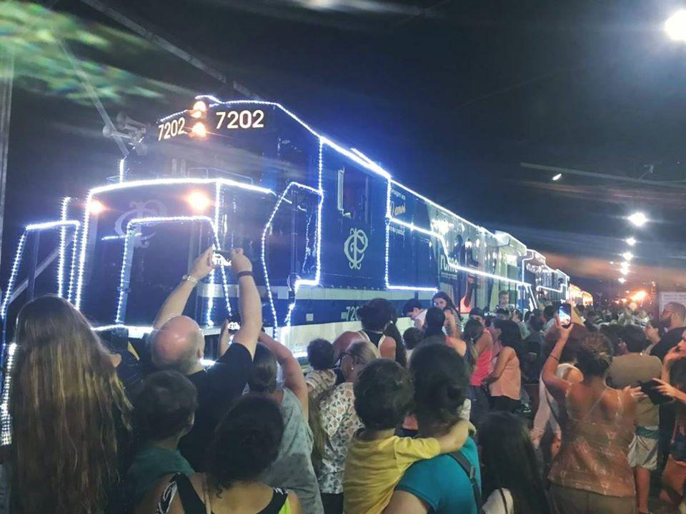 Locomotiva iluminada do Natal nos Trilhos passará por Cordeirópolis