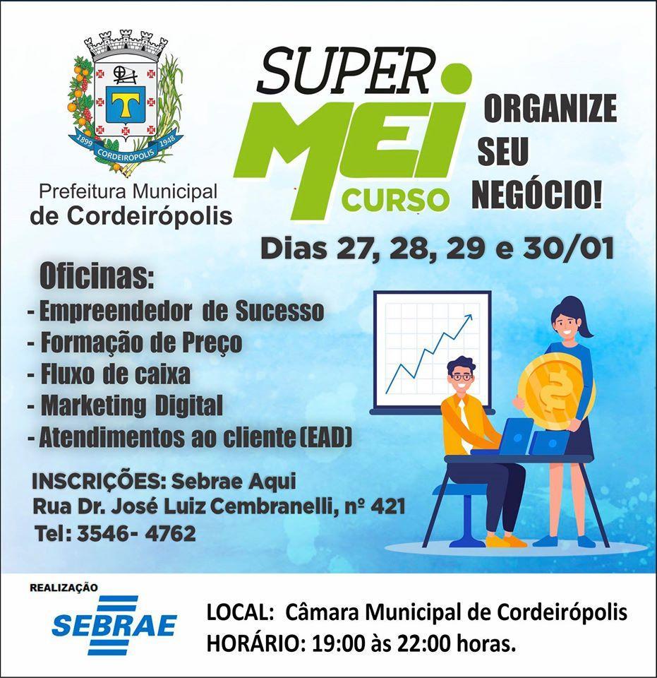 Prefeitura de Cordeirópolis abre inscrições para cinco cursos profissionalizantes