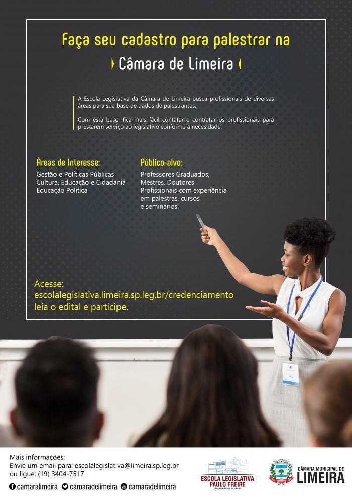 Escola Legislativa da Câmara inicia credenciamento de docentes