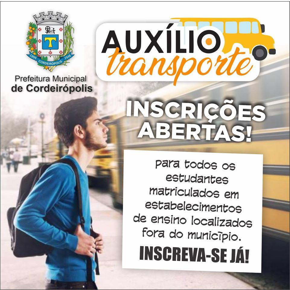 Auxílio transporte: Período de inscrições tem início no dia 03 de fevereiro