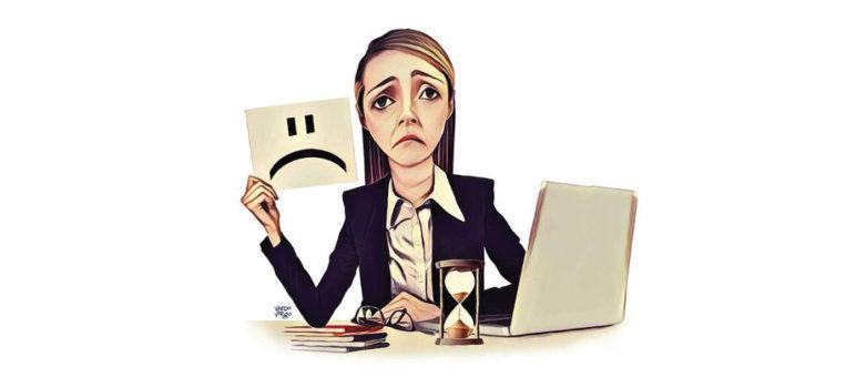 Infelicidade no trabalho