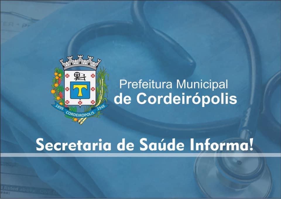 Secretaria de Saúde de Cordeirópolis terá horário de funcionamento reduzido