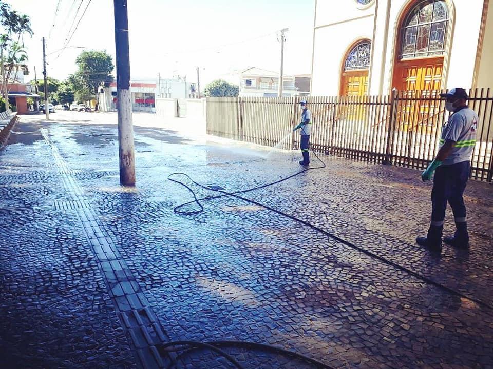 Cordeirópolis inicia desinfecção de ruas em combate à disseminação do coronavírus