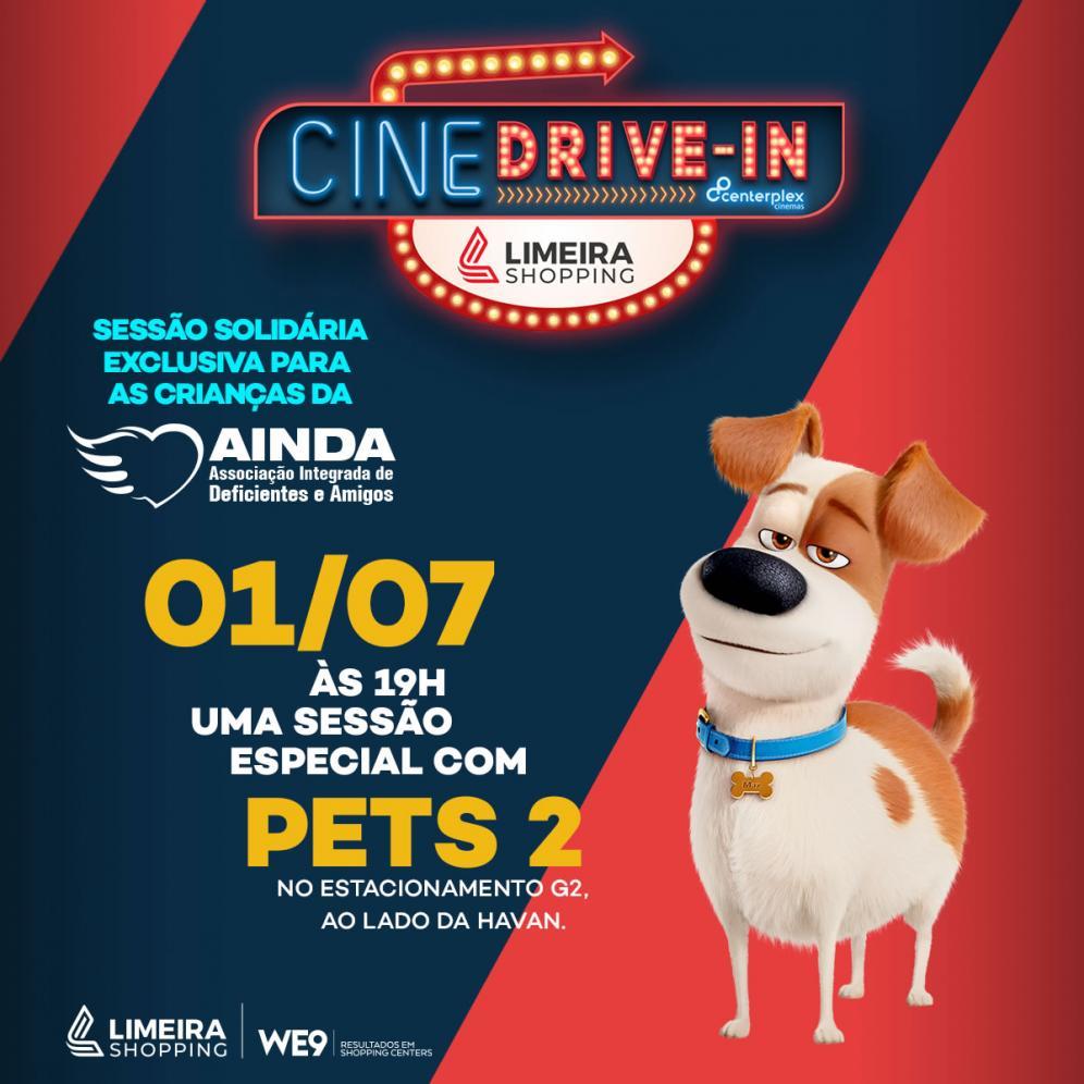 Ações sociais do Cine Drive-In no Limeira Shopping ajudam entidade
