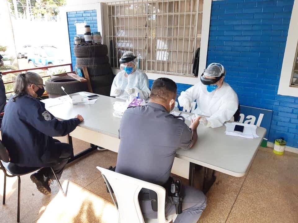Profissionais da área de Segurança Pública de Cordeirópolis foram testados para covid-19