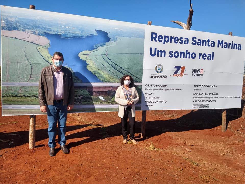 Início das Obras da Represa Santa Marina em Cordeirópolis