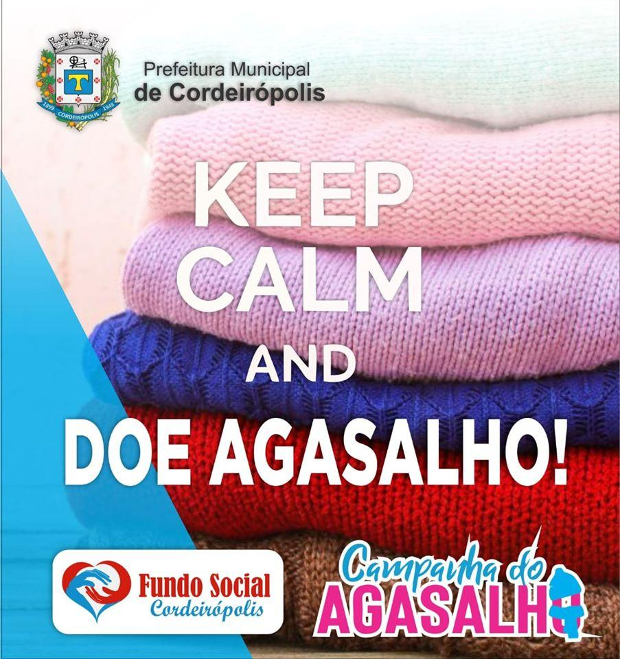 Campanha do Agasalho chega à última semana em Cordeirópolis