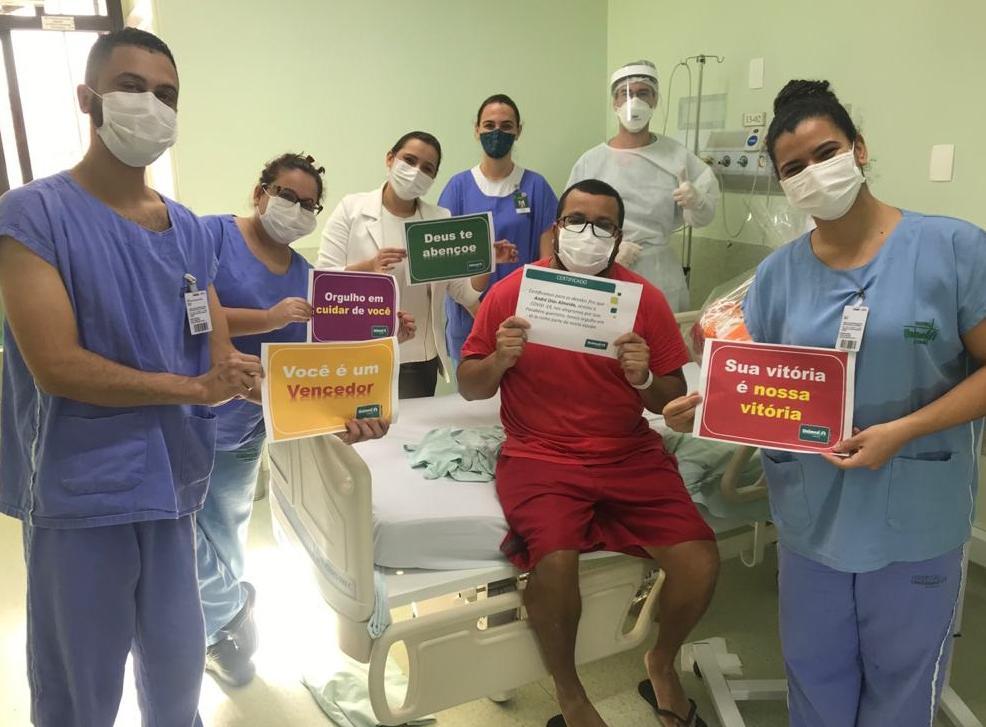 Profissional da saúde se recupera do coronavírus
