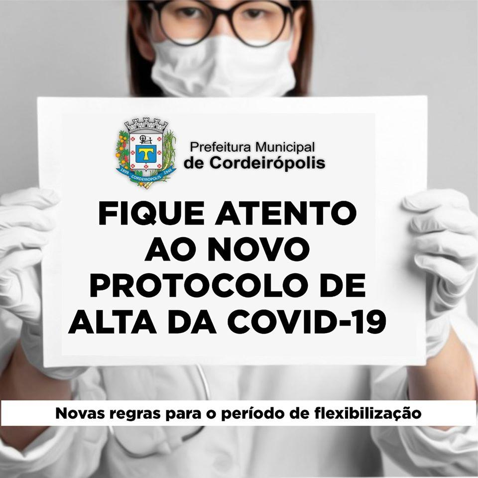 Prefeitura de Cordeirópolis adota novo protocolo para liberar pacientes com covid-19