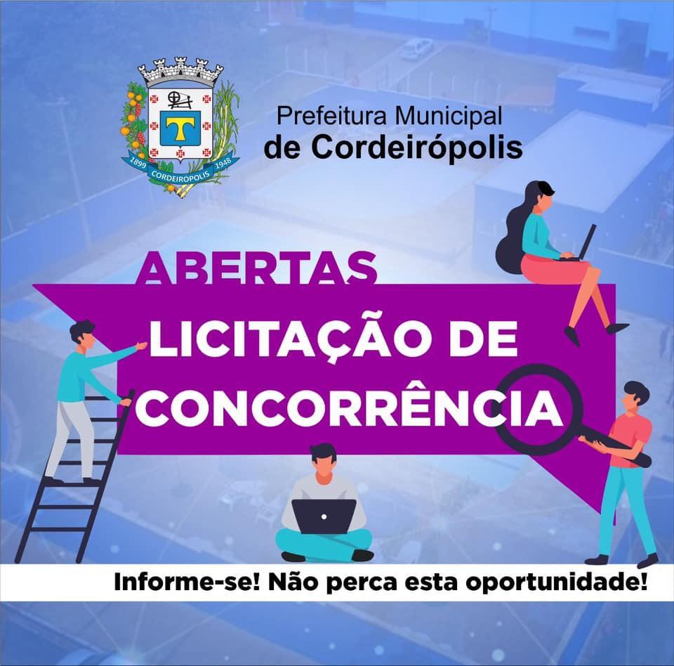Prefeitura de Cordeirópolis abre licitação para exploração comercial de lanchonetes em complexos esportivos
