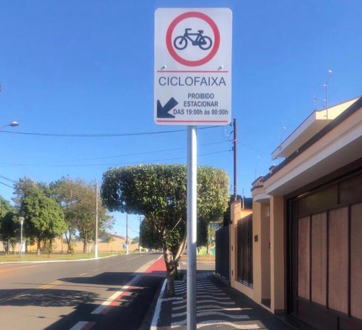 Ciclofaixa recebe melhorias e nova sinalização em Cordeirópolis