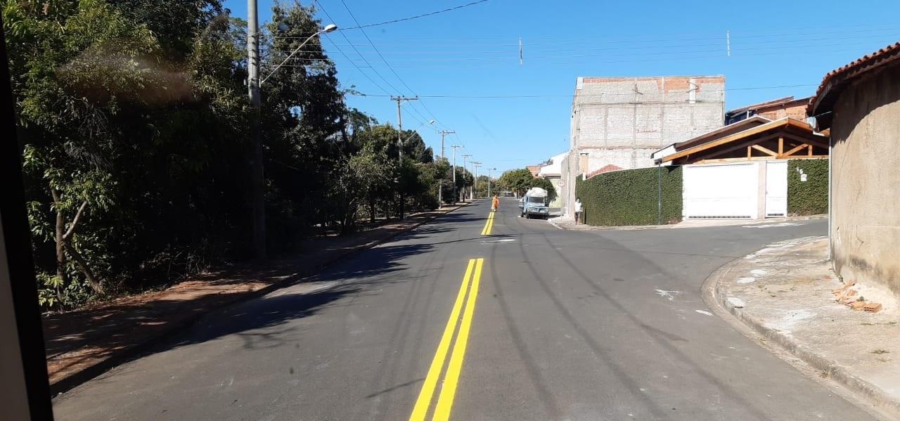 Prefeitura de Limeira reforça sinalização de solo no Jd. Santa Eulália