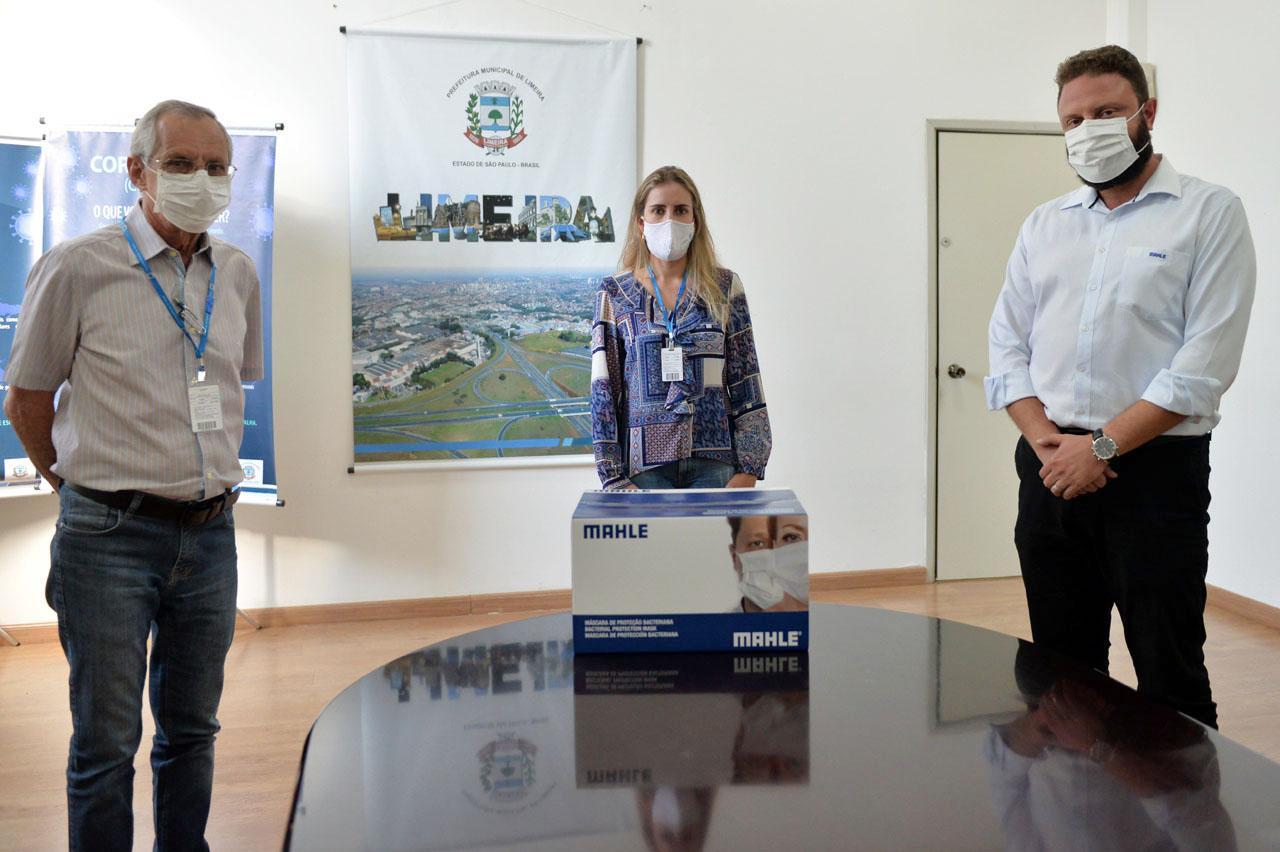 Prefeitura de Limeira recebe doação de 14 mil máscaras da Mahle