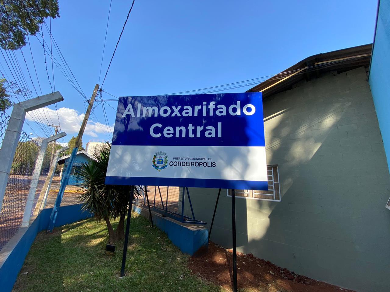 Inauguração do Almoxarifado Central em Cordeirópolis será nos próximos dias