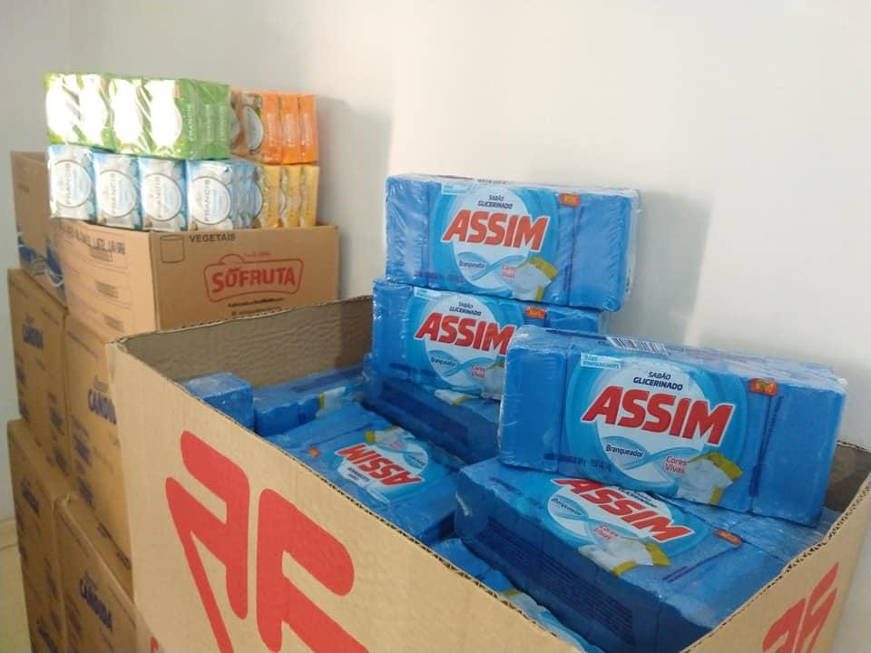 Fundo Social de Solidariedade de Cordeirópolis recebe 150 kg de alimentos e produtos de limpeza