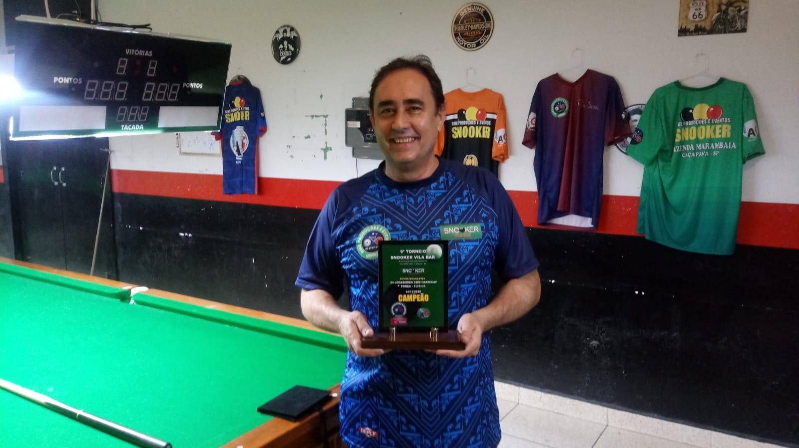 Nossoclubino vence torneio de snooker realizado em Campinas