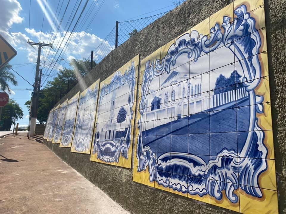 Prefeitura de Cordeirópolis instala painéis de arte na Avenida Vilson Diorio