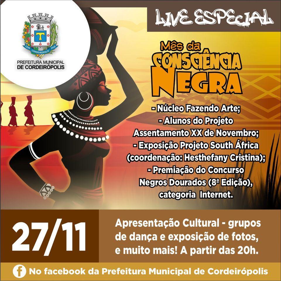 Cordeirópolis conhecerá nesta sexta os vencedores do Concurso Negros Dourados