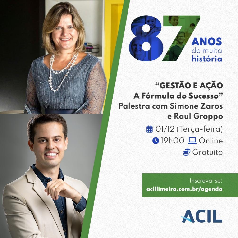 Como prosperar nos negócios em 2021 é o tema de palestra online da ACIL