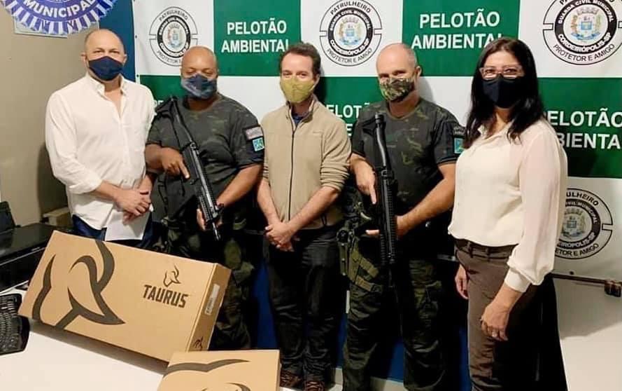 Pelotão Ambiental de Cordeirópolis recebe novos armamentos