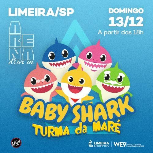 Baby Shark leva diversão às famílias na Arena Drive-In do Limeira Shopping