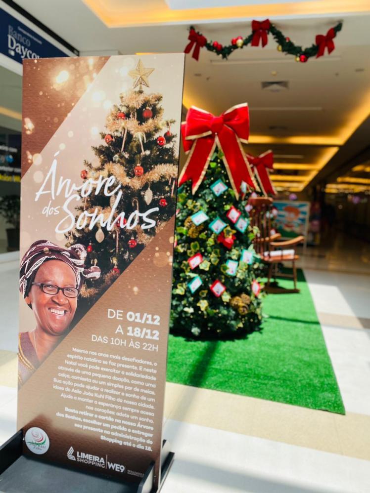 Árvore dos sonhos do Limeira Shopping realiza desejos de idosos de asilo