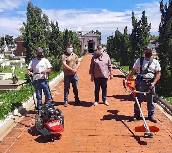 Cemitério de Cascalho recebe novos equipamentos para manutenção