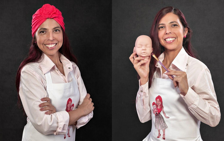 Vanessa Rocha é uma das artistas que confecciona os Bebês Reborn que mexe com a cabeça das meninas