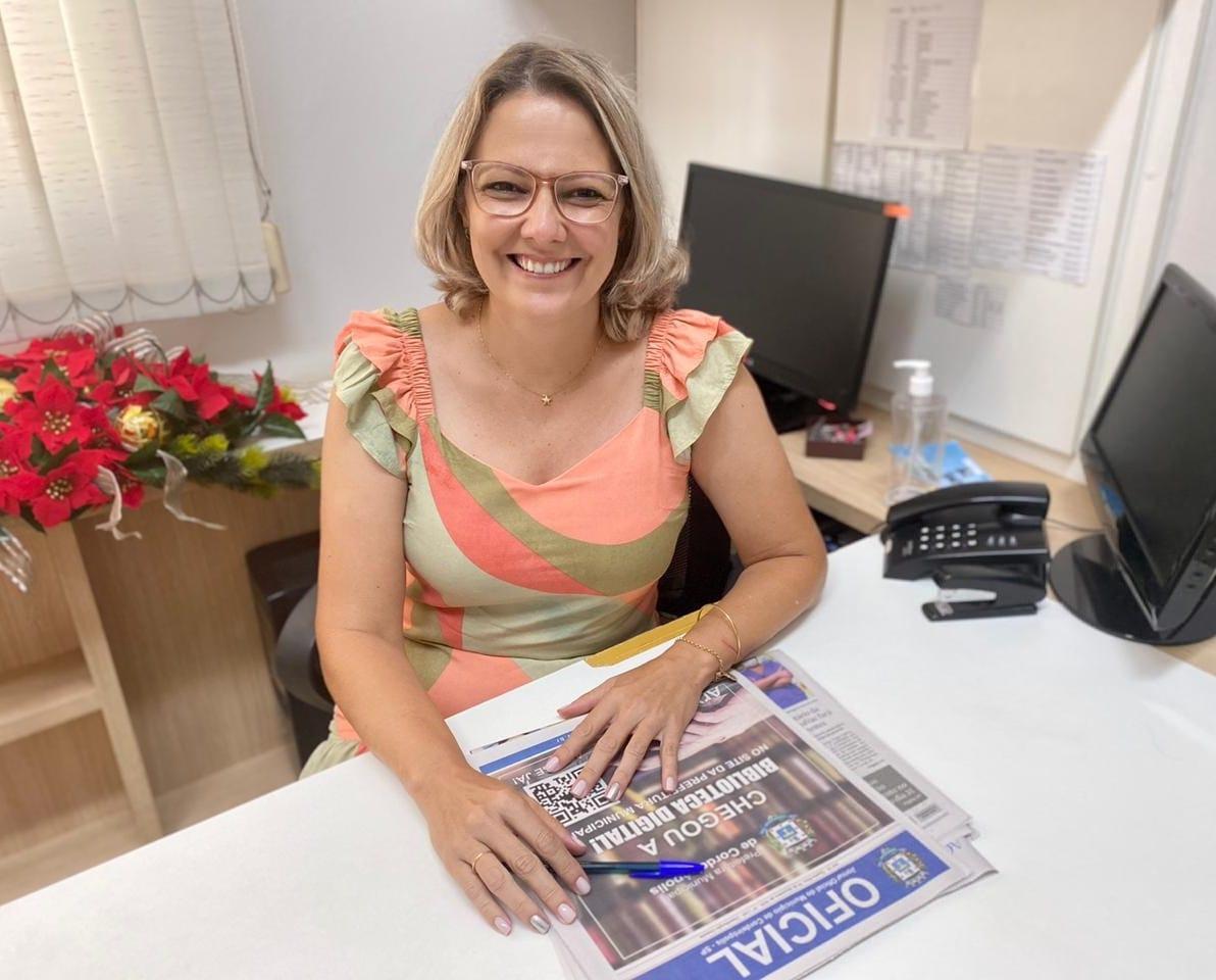 Conheça a Secretária de Justiça e Cidadania de Cordeirópolis: Sandra Cristina dos Santos