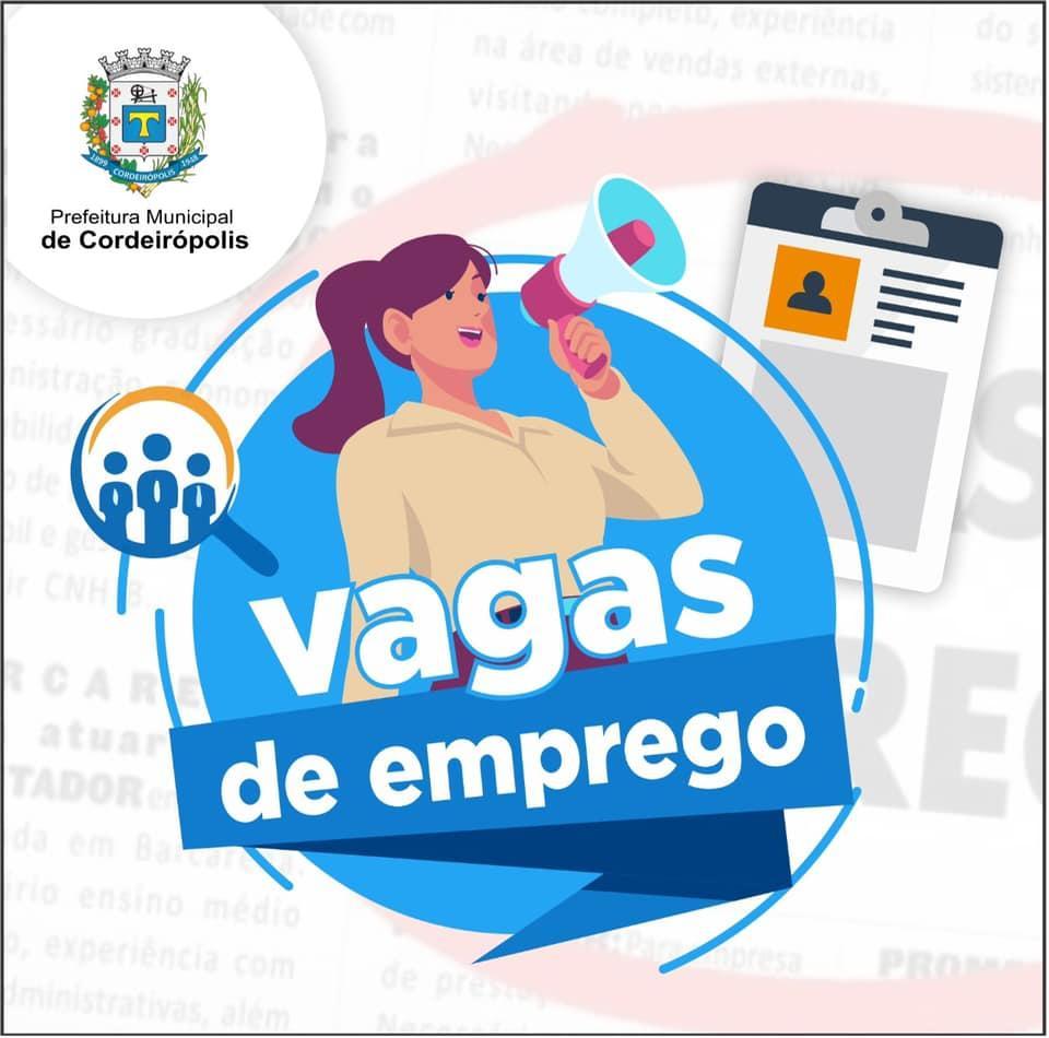 PAT de Cordeirópolis anuncia novas oportunidades de emprego