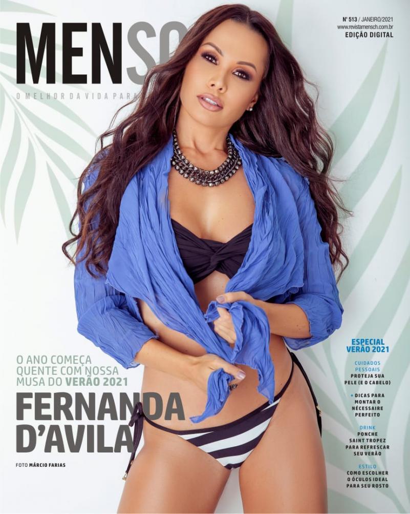 Fernanda D'Ávila é eleita musa do verão 2021 pela revista Mensch