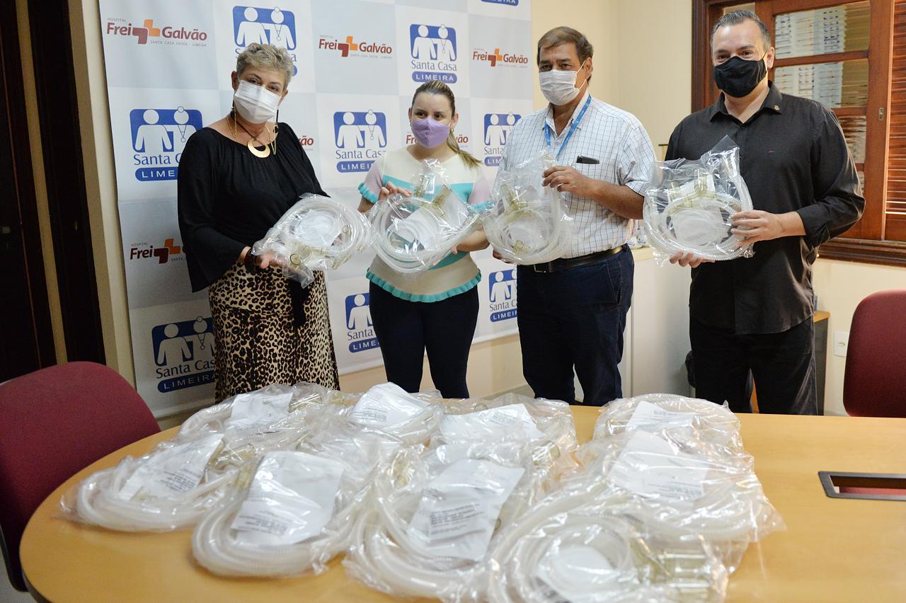 UTI Neonatal recebe circuitos de ventilação em ação do Rotary Club Limeira Sul