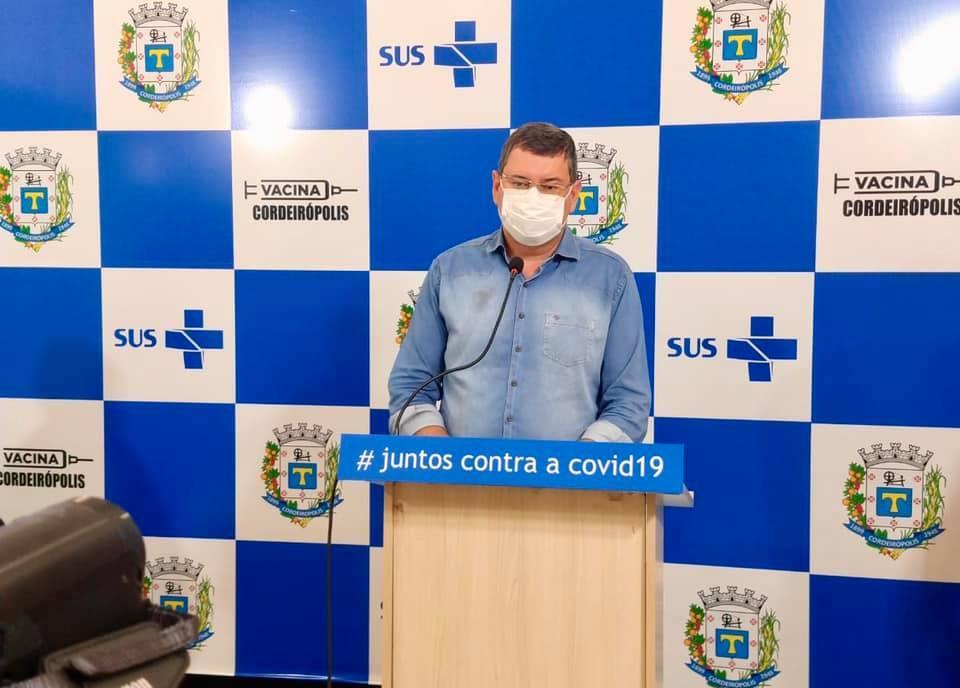 Prefeitura de Cordeirópolis realiza live extraordinária sobre a nova variante do coronavírus